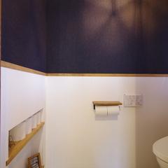 Natural vintage Style『ナチュラルビンテージスタイル』なニッチのあるトイレは宇都宮市の川堀工務店(K-LIVING)まで!