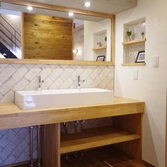 Natural vintage Style『ナチュラルビンテージスタイル』な洗面化粧台は宇都宮市の川堀工務店(K-LIVING)まで!