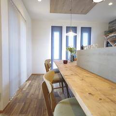 Natural vintage Style『ナチュラルビンテージスタイル』なキッチンカウンターは栃木県宇都宮市の川堀工務店(K-LIVING)まで!