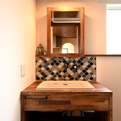 Provence Style『プロヴァンススタイル』な洗面化粧台は栃木県宇都宮市の川堀工務店(K-LIVING)まで!