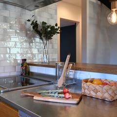 Natural cool Style『かっこいいナチュラルなスタイル』のキッチンは栃木県宇都宮市の川堀工務店(K-LIVING)まで!