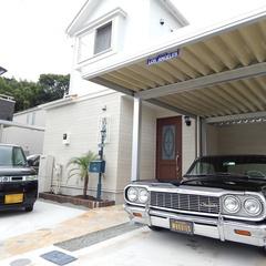 アメリカンなカーポートは神奈川県横浜市の横浜建物まで!