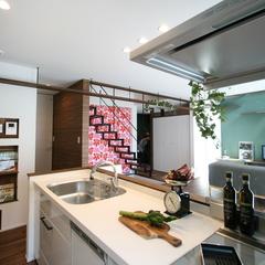 落ち着きのある高品質なリビングキッチンがある注文住宅
