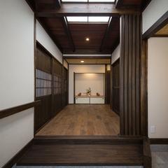 昔ながらの日本家屋のような古民家風玄関