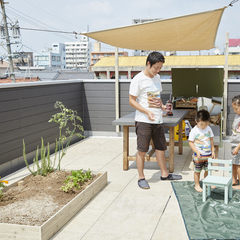 自分の趣味や家族との時間が作れる屋上庭園