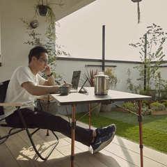 開放的な屋上庭園でリモートワークが出来るかっこいいお家