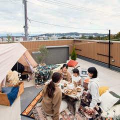 屋上庭園で叶える女子キャンプ