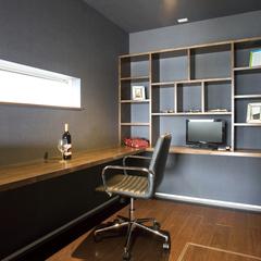 デザイン性だけでなく機能性も追求したなブルックリンテイストの書斎
