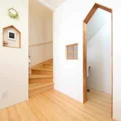 階段下は秘密基地のようなプライベートスペース
