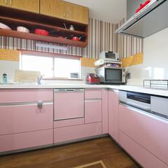 お気に入りのピンクのキッチン
