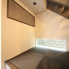 シックな和紙畳が似合う畳コーナー