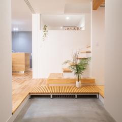 土間玄関のある北欧デザイン住宅です。規格住宅TRETTIO GRAD(トレッティオグラード)