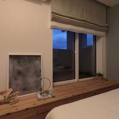 無垢材のベンチでおやすみ前のひと時を。北欧デザイン規格住宅TRETTIO GRAD(トレッティオ グラード)