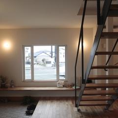 美しい規格住宅の外出が楽しくなるゆとりある幅広玄関