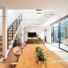 光をたくさん取り入れる高品質でナチュラルなリビングのあるデザイン住宅