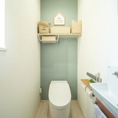 北欧風の可愛いトイレのあるオシャレな家