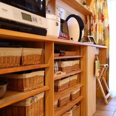 オシャレに整理整頓できる北欧テイストのキッチン収納