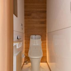 自然素材を活かしたナチュラルで美しい優しい雰囲気のトイレ