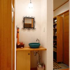 岐阜県産材にこだわったナチュラルで素敵な造作洗面台