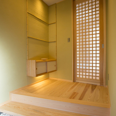 しっとり和モダン茶室のような玄関
