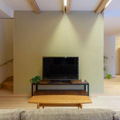 岐阜県産材の高品質木材をふんだんに使用したリビング
