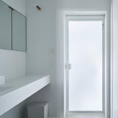 シンプルホワイトで美しい無になれる洗面所空間