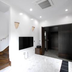 スタイリッシュでかっこいい手洗い場があり機能性も◎な玄関