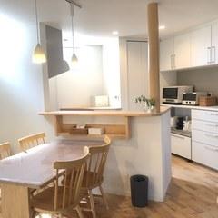 明るく可愛いナチュラルな高気密高断熱のダイニングキッチン