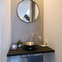 建築家住宅R+house 手洗い洗面スペース