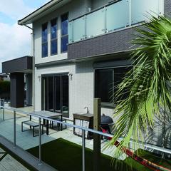 君津市箕輪のアジアンな外観の家でゆったりリビングのあるお家は、クレバリーホーム FC本部(住宅館LABO)まで!