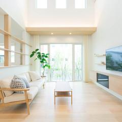 君津市市宿のカントリーな外観の家でゆったりリビングのあるお家は、クレバリーホーム FC本部(住宅館LABO)まで!