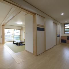 高品質木材の木をふんだんに使用した広々ホール