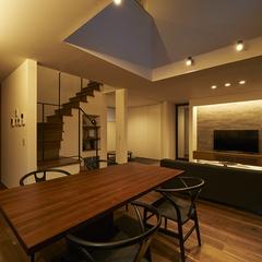 寒河江市の新築一戸建なら山形県山形市の設計士とつくるデザイナーズ住宅ハウスデザインまで♪ 間接照明、リビング、ダイニング