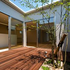 山形市の新築一戸建なら山形県山形市の設計士とつくるデザイナーズ住宅ハウスデザインまで♪ 中庭、外構、ウッドデッキ
