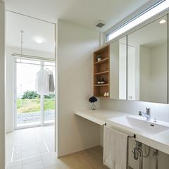天童市の注文住宅なら山形県山形市の設計士とつくるデザイナーズ住宅ハウスデザインまで♪1-2-7 ・造作・洗面化粧台・サンルーム