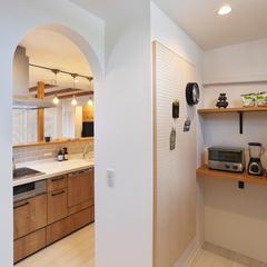 村山市の新築一戸建なら山形県山形市の設計士とつくるデザイナーズ住宅ハウスデザインまで♪1-3-8 キッチン・パントリー・有効ボード
