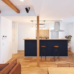 山形市の注文住宅なら山形県山形市の設計士とつくるデザイナーズ住宅ハウスデザインまで♪1-3-10 キッチン・照明・カウンター