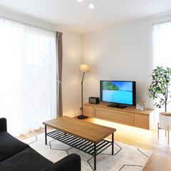 寒河江市の夢のマイホームなら山形県山形市の設計士とつくるデザイナーズ住宅ハウスデザインまで♪1-4-2 リビング・照明・造作TVボード
