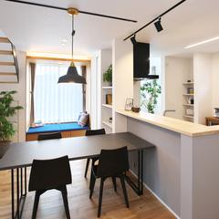 山形市の新築一戸建なら山形県山形市の設計士とつくるデザイナーズ住宅ハウスデザインまで♪1-4-7 ダイニング・照明・キッチン