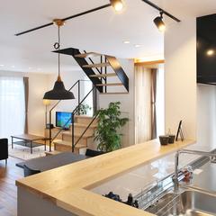 山形市の夢のマイホームなら山形県山形市の設計士とつくるデザイナーズ住宅ハウスデザインまで♪1-4-8 キッチン・照明