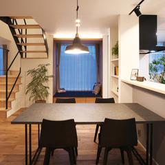 山形市の夢のマイホームなら山形県山形市の設計士とつくるデザイナーズ住宅ハウスデザインまで♪1-4-11 夜・ダイニング・ヌック・照明