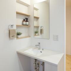 天童市の夢のマイホームなら山形県山形市の設計士とつくるデザイナーズ住宅ハウスデザインまで♪1-5-9 洗面化粧台・造作