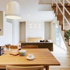 寒河江市の新築一戸建なら山形県山形市の設計士とつくるデザイナーズ住宅ハウスデザインまで♪ ナチュラル、カフェ、階段
