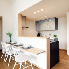 函館市旭岡町のアメリカンな外観の家で広々な洗面所のあるお家は、クレバリーホーム函館店まで!