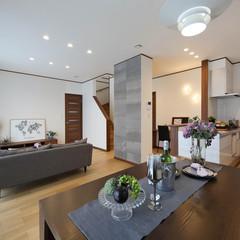 仙台市宮城野区自由ケ丘のブルックリンな外観の家で広々したLDKのあるお家は、クレバリーホーム 仙台東店まで!