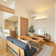 福島市荒井のアメリカンな外観の家で広いベランダ・バルコニーのあるお家は、クレバリーホーム福島店まで!