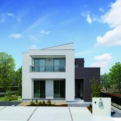 福島市上町のアメリカンな外観の家でパントリーのあるお家は、クレバリーホーム福島店まで!