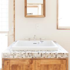 広い洗面所をお求めの方におすすめ!シンプルな洗面台でフリースペースを確保☆