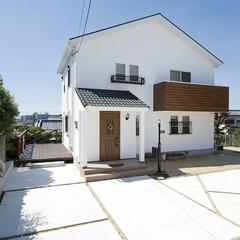 ナチュラルデザインの漆喰の家