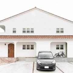 漆喰壁の真っ白なお家